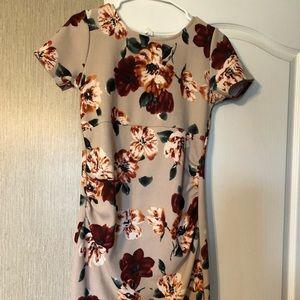 Short Floral PinkBlush maternity dress